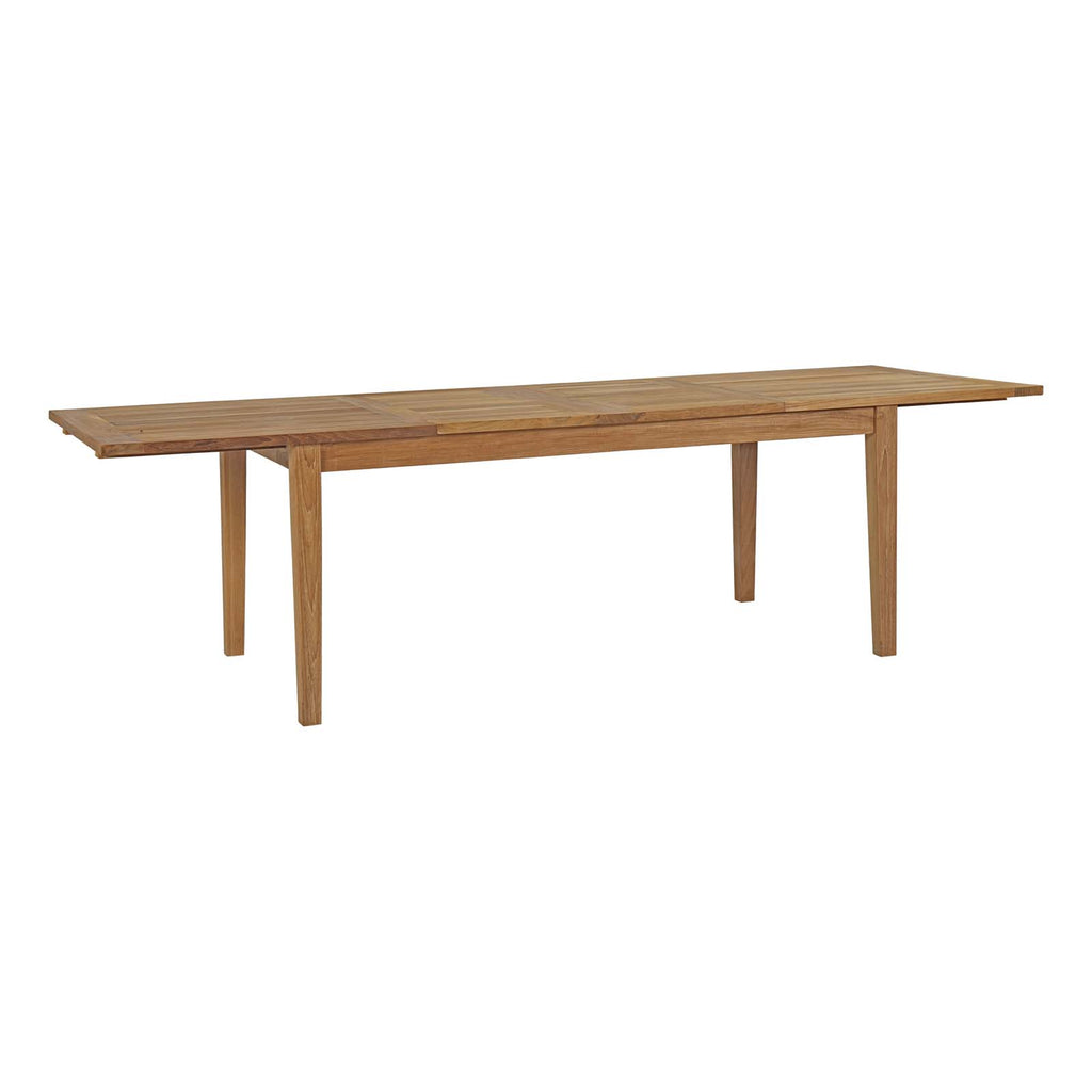 Marina Extendable Outdoor Patio Teak Dining Table
