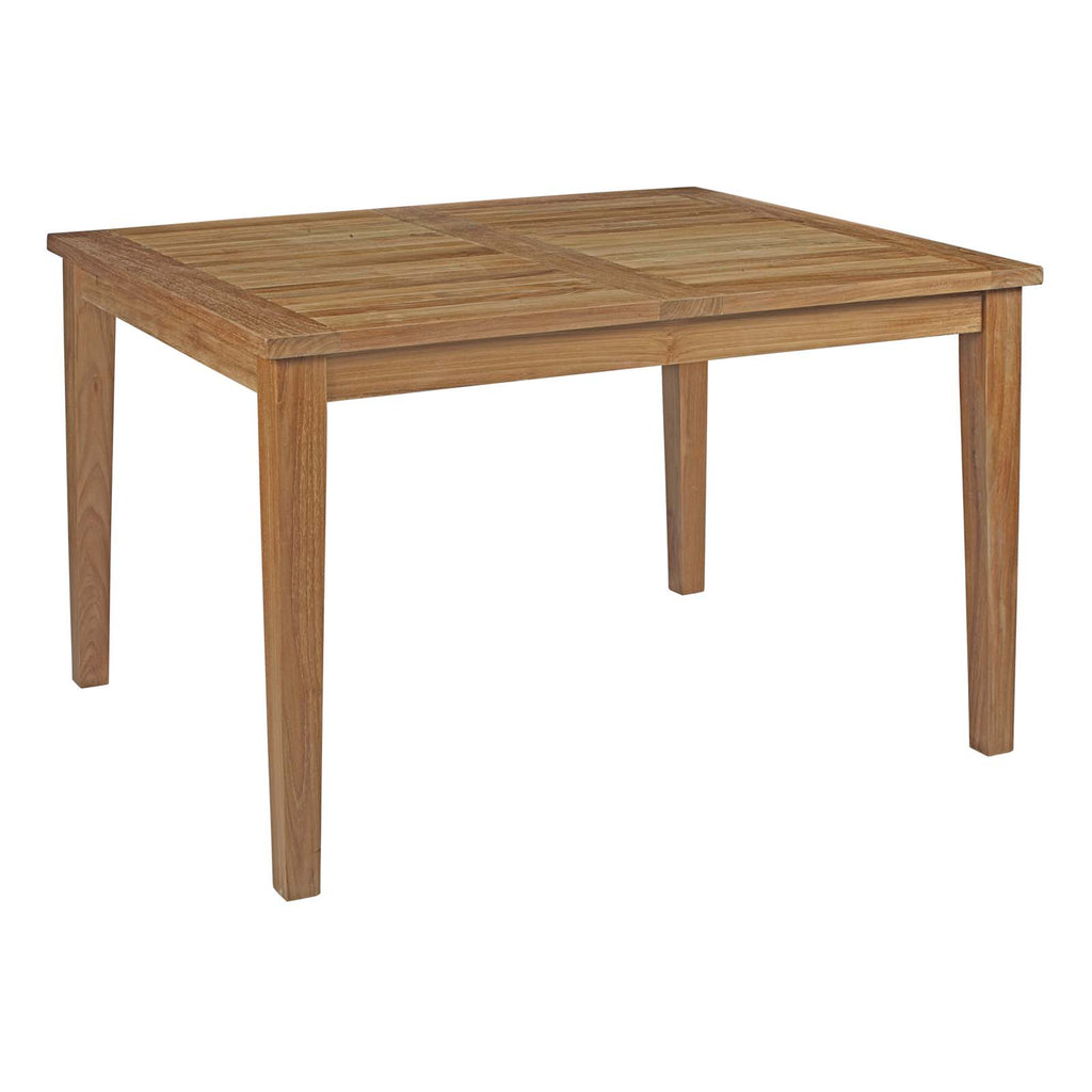 Marina Outdoor Patio Teak Dining Table in Natural