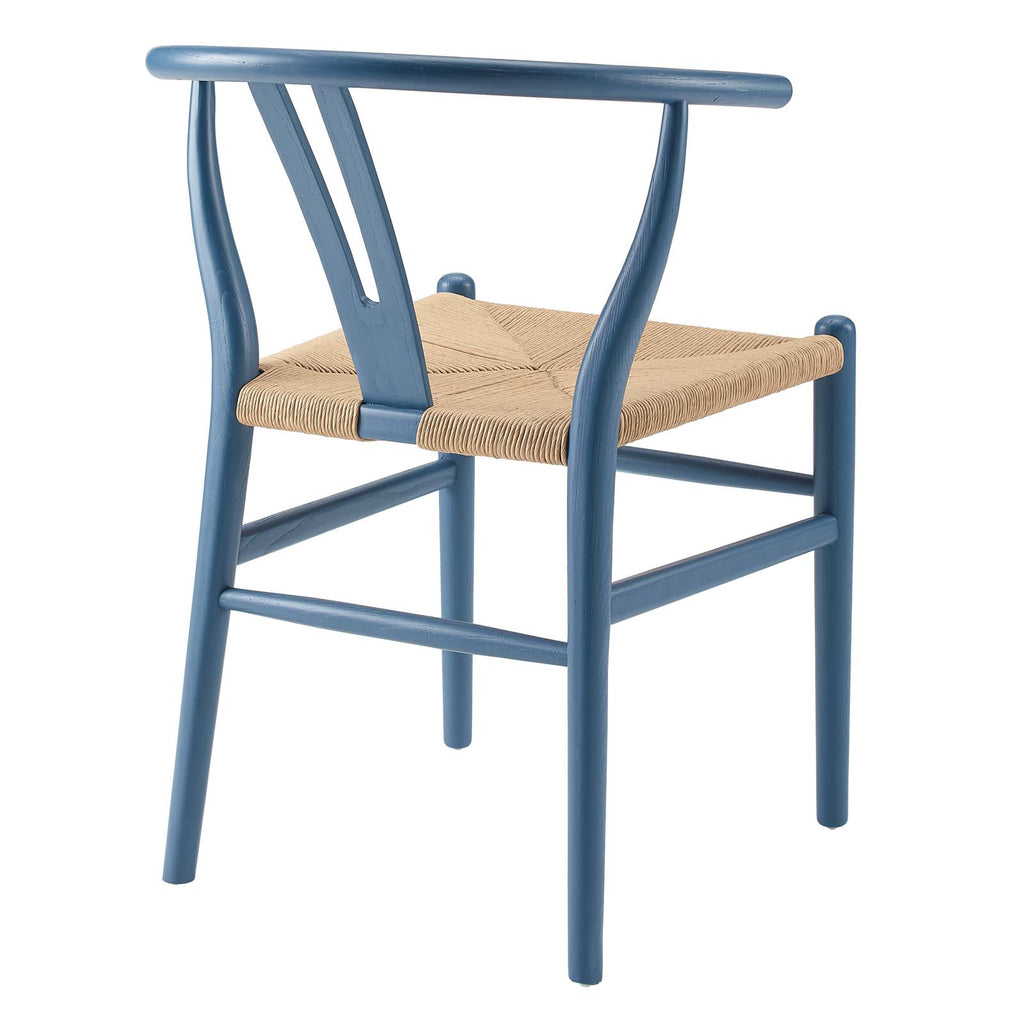 Amish Dining Wood Side Chair in Harbor