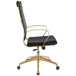 Jive Gold Stainless Steel Highback Office Chair in Gold Black