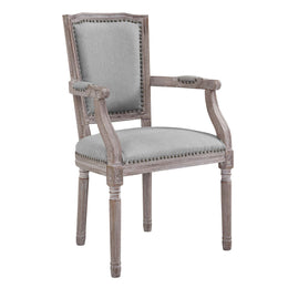 Penchant Dining Armchair Upholstered Fabric Set of 4 in Light Gray
