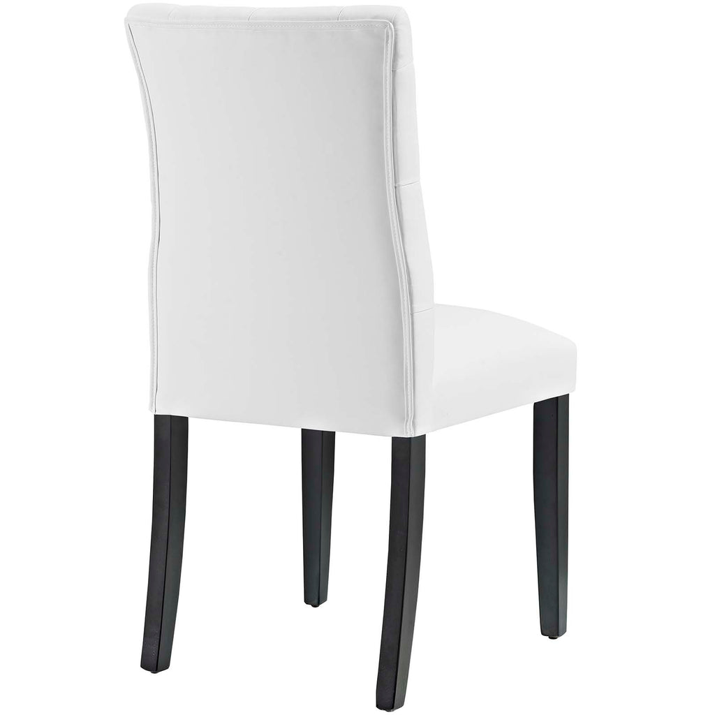 Duchess Dining Chair Vinyl Set of 2 in White