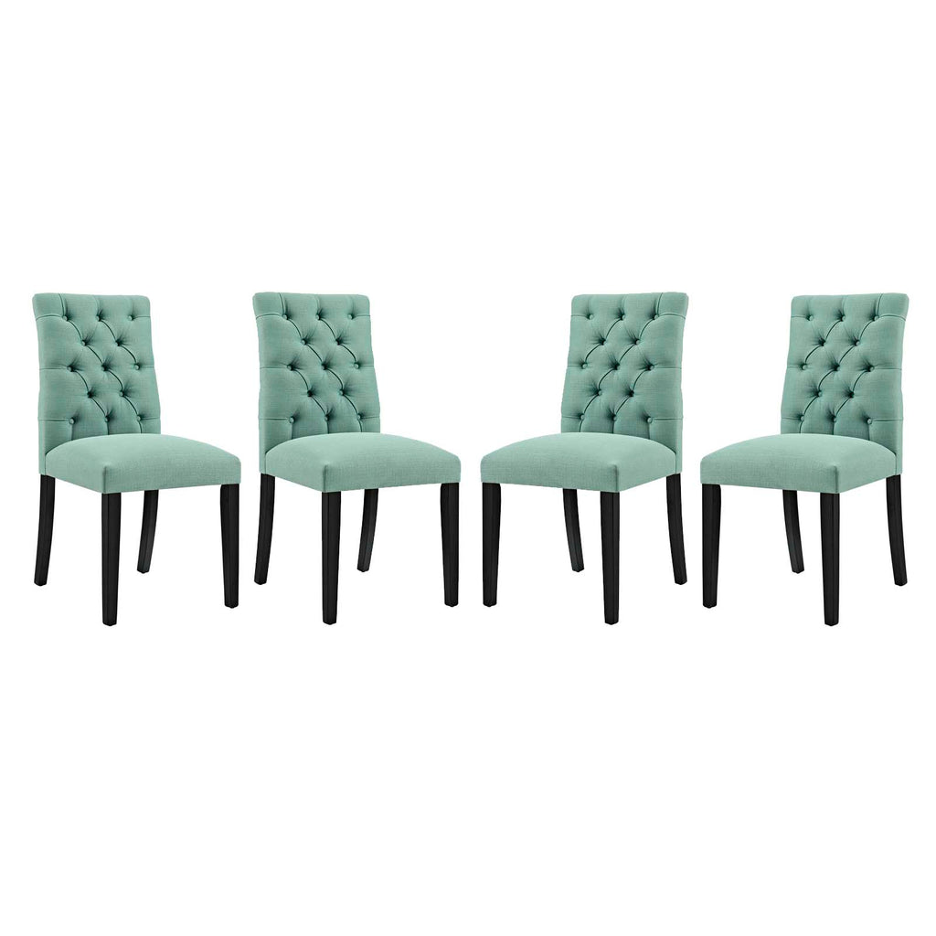 Duchess Dining Chair Fabric Set of 4 in Laguna