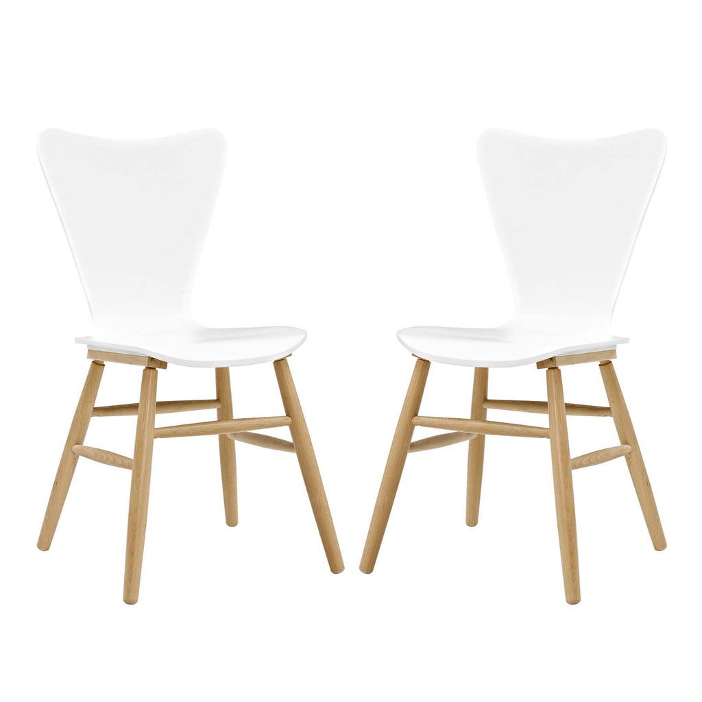 Cascade Dining Chair Set of 2 in White