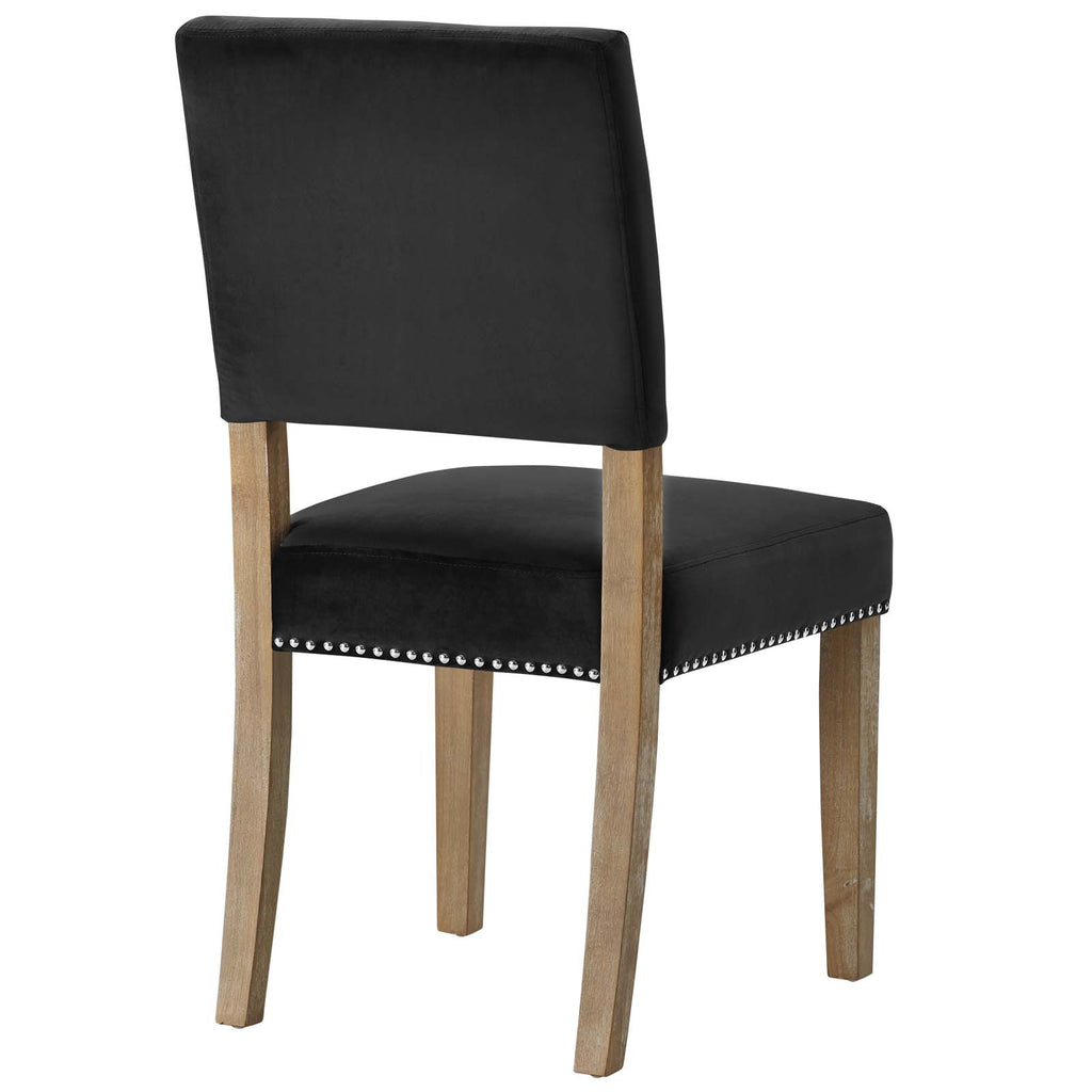 Oblige Dining Chair Wood Set of 4 in Black