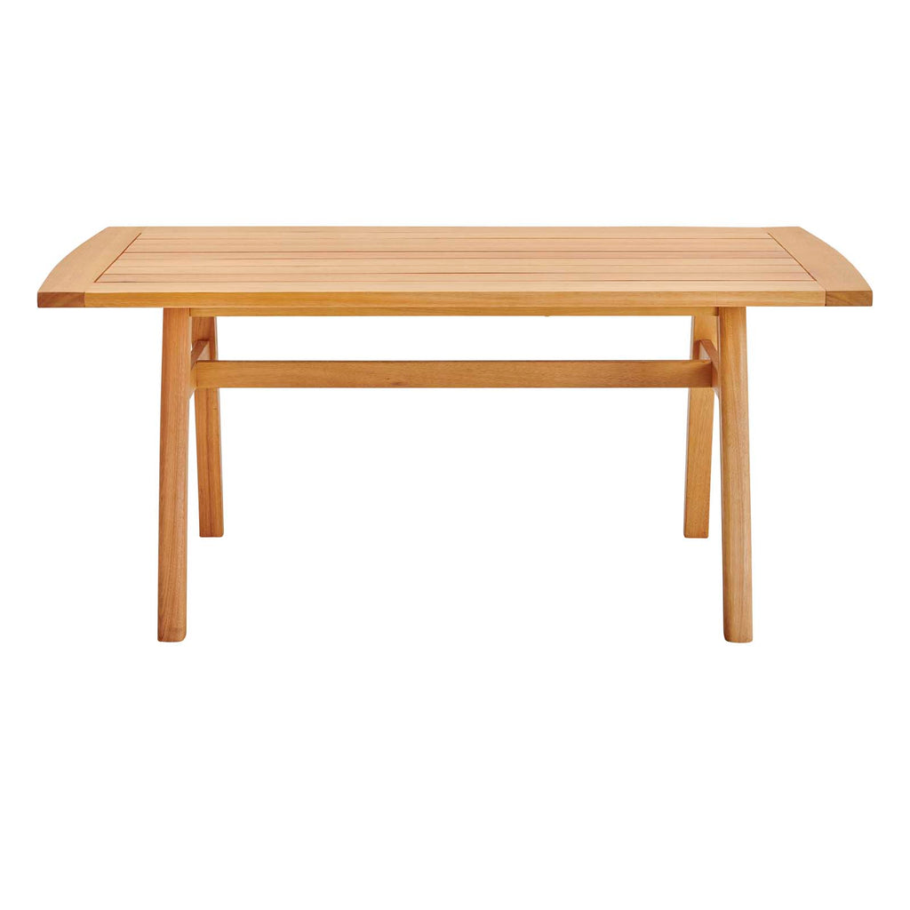"Orlean 57"" Outdoor Patio Eucalyptus Wood Dining Table"