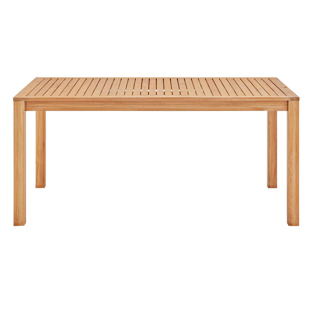 "Farmstay 63"" Rectangle Outdoor Patio Teak Wood Dining Table"