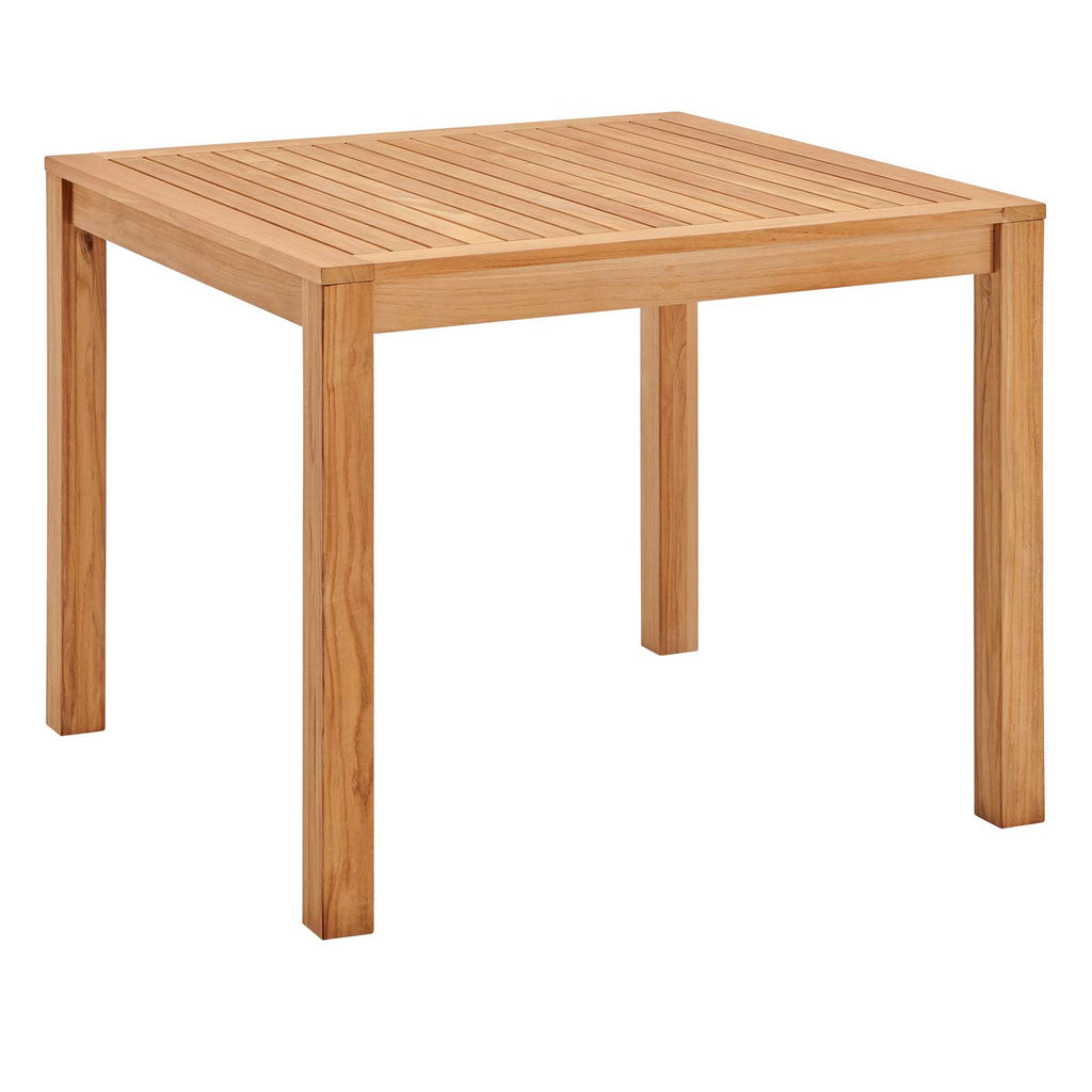 "Farmstay 36"" Square Outdoor Patio Teak Wood Dining Table"