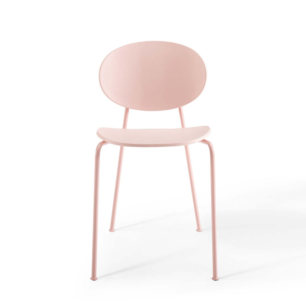 Palette Dining Side Chair Set of 2 in Pink
