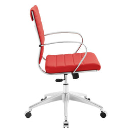 Jive Mid Back Office Chair in Red