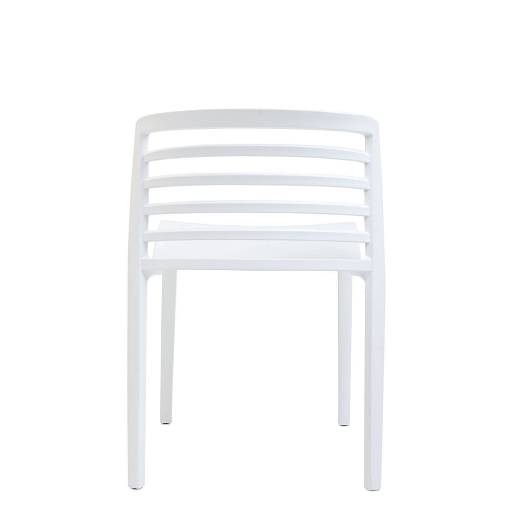 Curvy Dining Side Chair in White