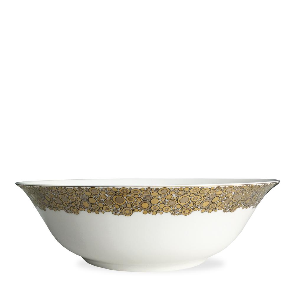 ELLINGTON SHIMMER- GOLD & PLATINUM SERVING BOWL