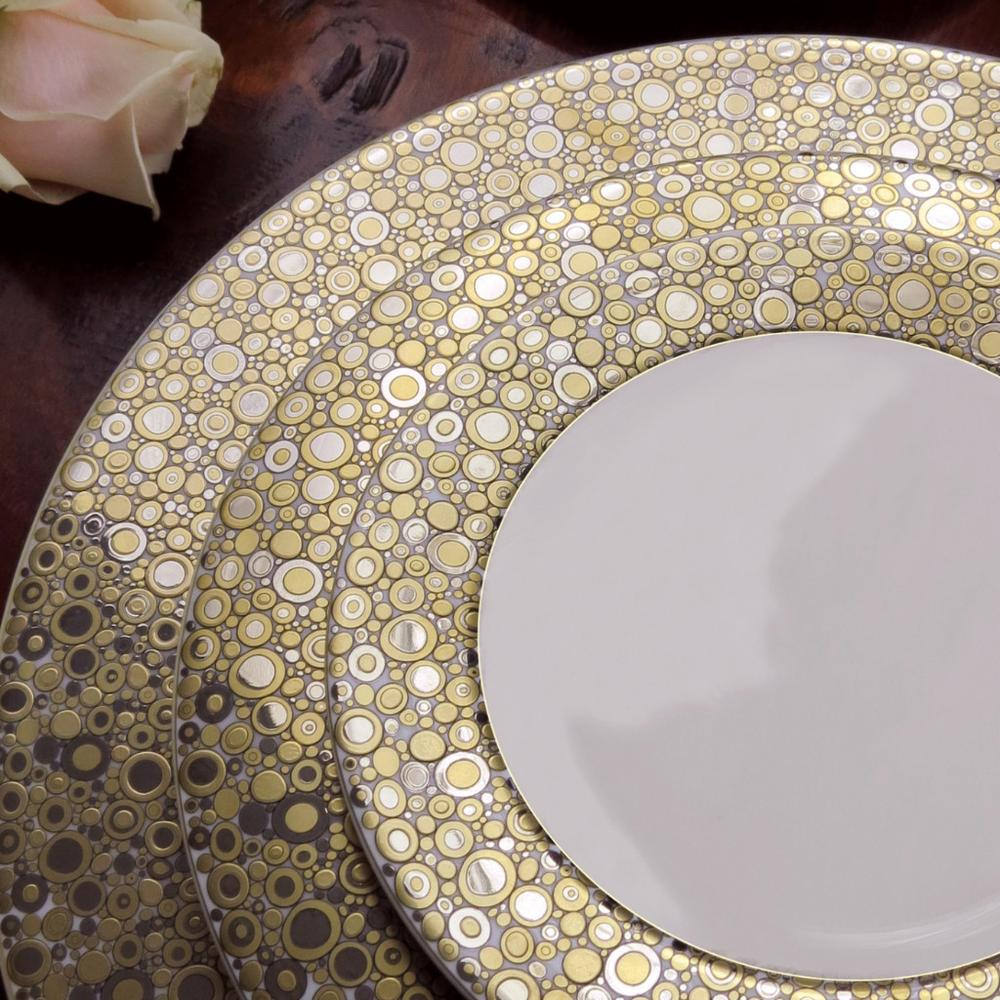 ELLINGTON SHIMMER (GOLD & PLATINUM) SALAD PLATE