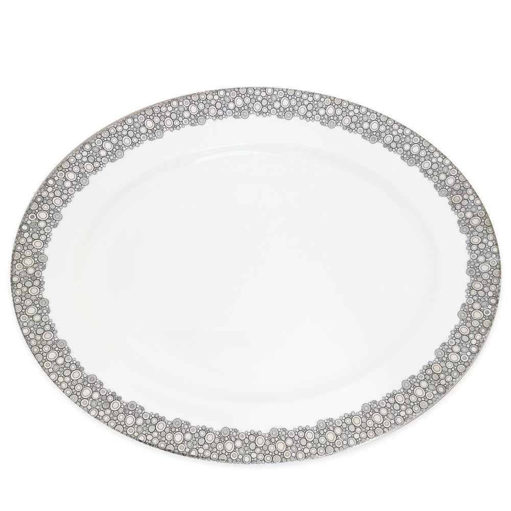ELLINGTON SHINE PLATINUM LARGE OVAL PLATTER