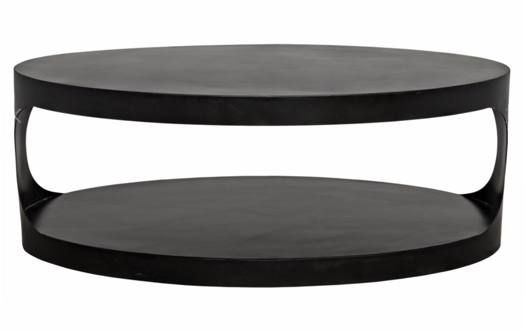 Eclipse Oval Coffee Table,Black Metal