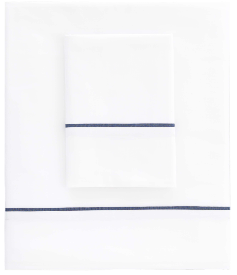 Essential Tipped Percale Flat Sheet