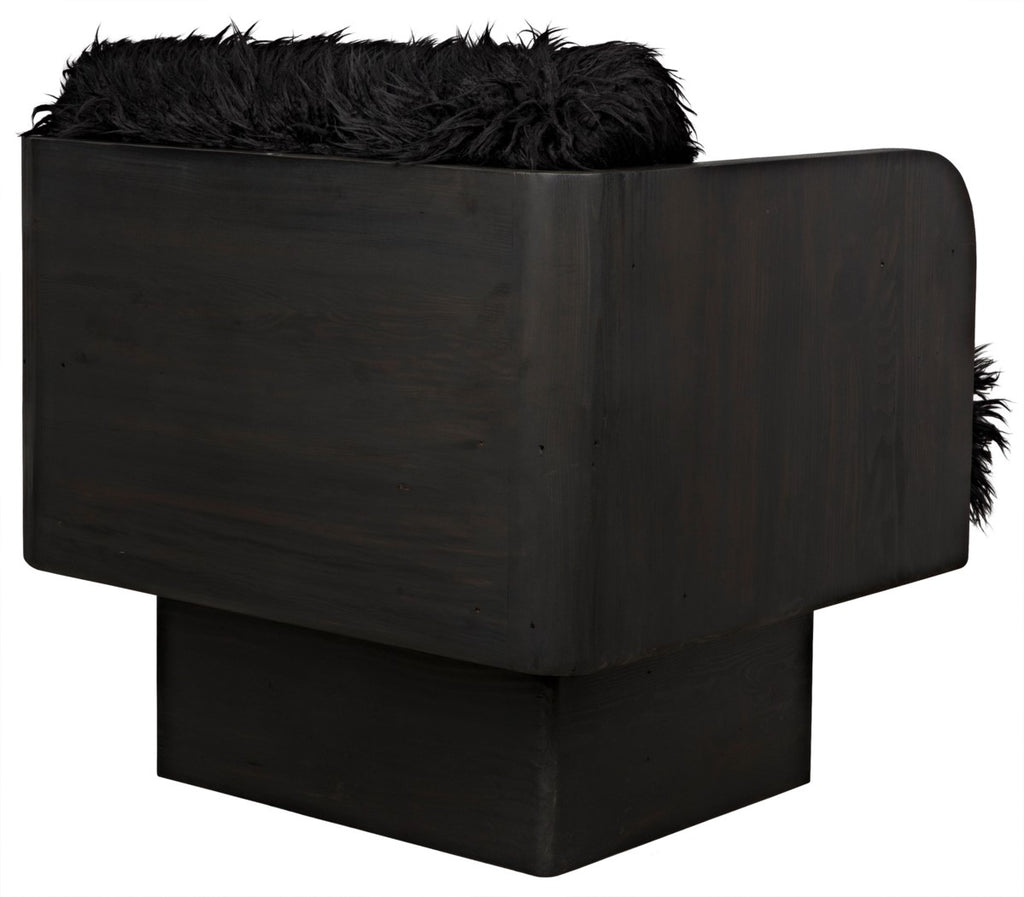 Ethel Chair, Shaggy Black