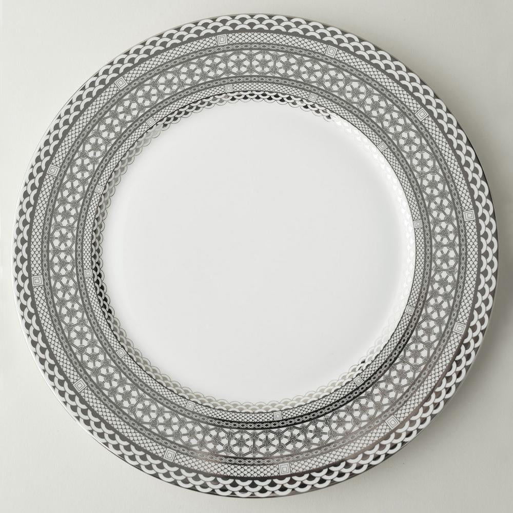 HAWTHORNE ICE- PLATINUM CHARGER PLATE