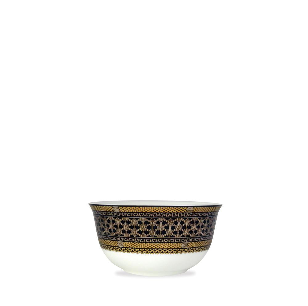 Hawthorne Onyx- Gold,Platinum & Black Side Bowl
