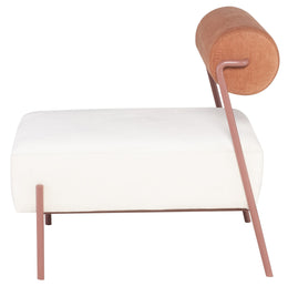 Marni Occasional Chair - Oyster with Rust Frame