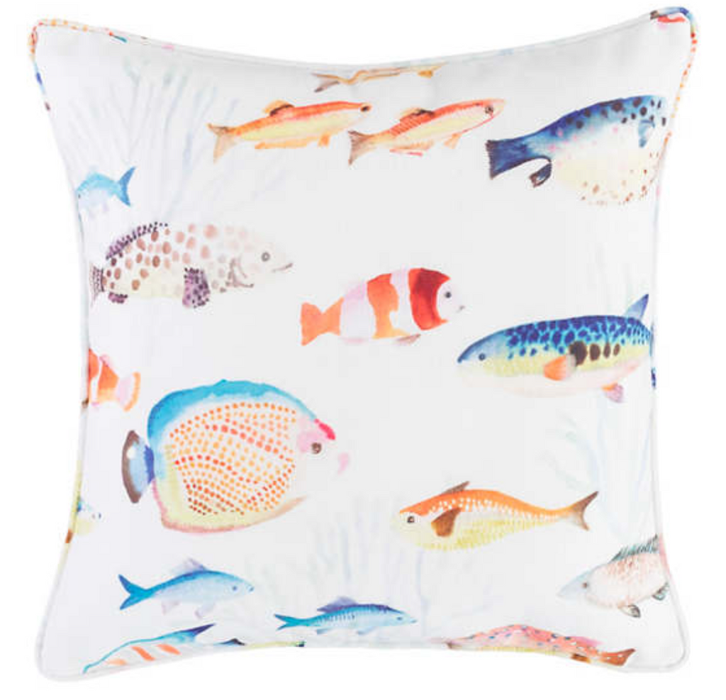 Happy Fish Decorative Pillow