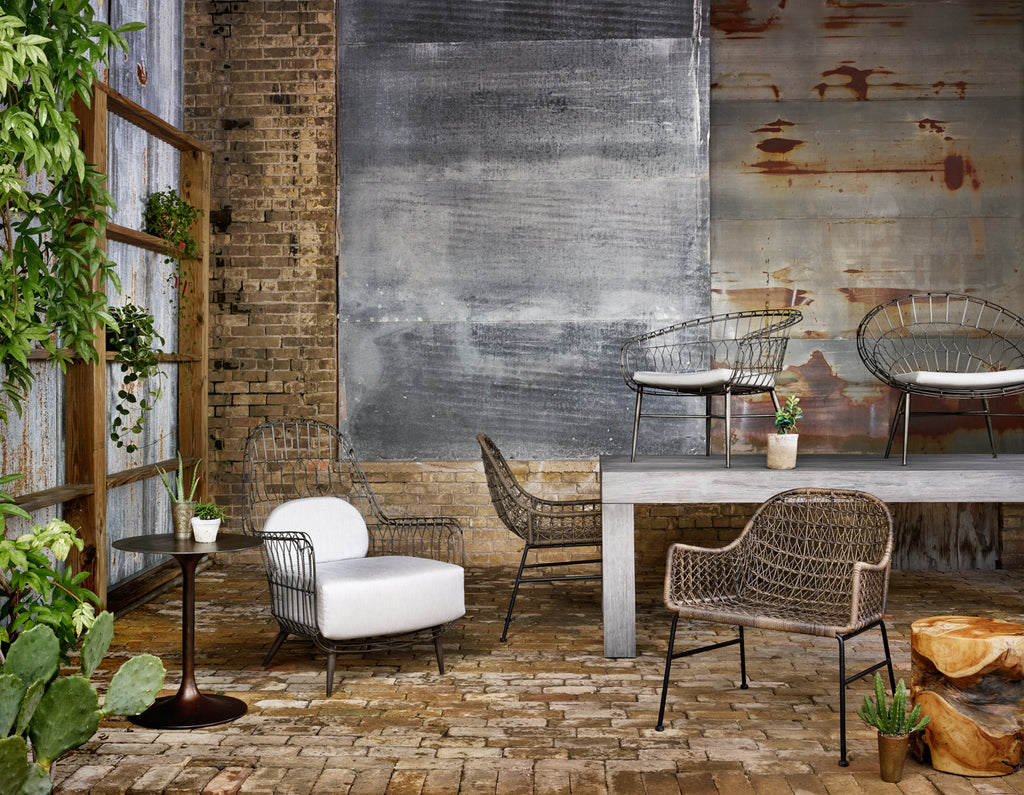 Bandera Outdoor Woven Dining Chair - Distressed Grey
