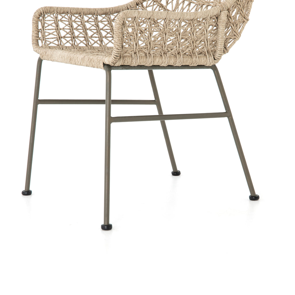 Bandera Outdoor Woven Dining Chair - Vintage White