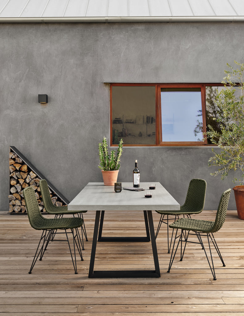 Dema Outdoor Dining Chair - Olive Rope