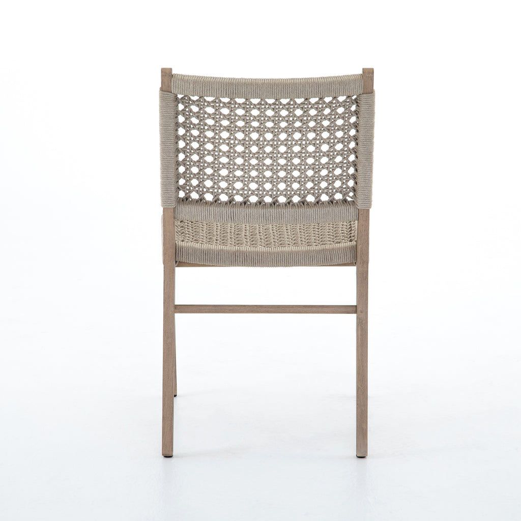 Delmar Outdoor Dining Chair - Ivory Rope / Washed Brown
