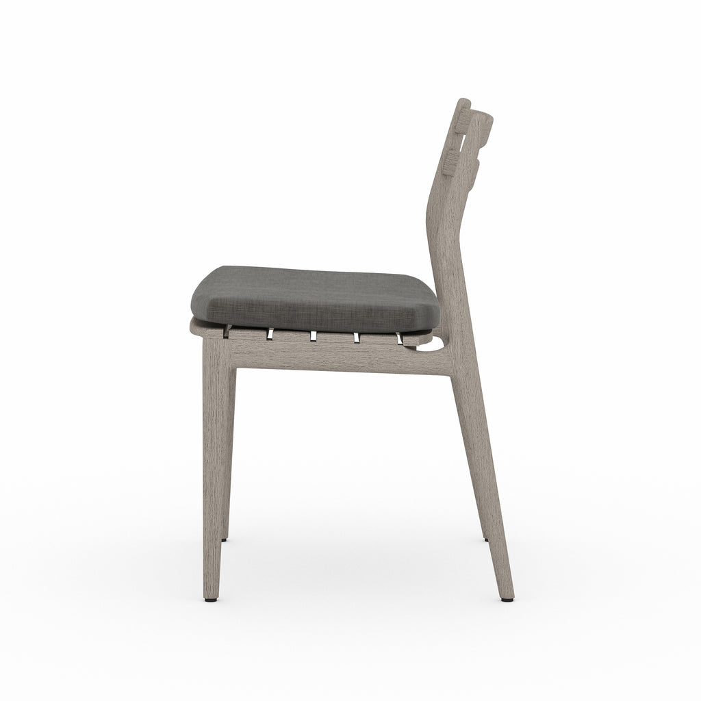 Atherton Outdoor Dining Chair - charcoal / weathered grey