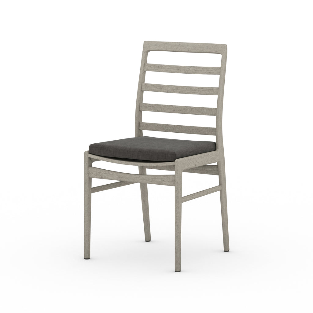 Linnet Outdoor Dining Chair - Weathered Grey / Charcoal