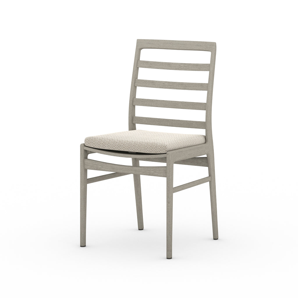 Linnet Outdoor Dining Chair - Weathered Grey / Faye Sand