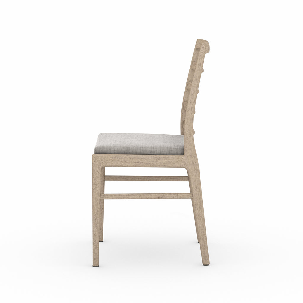 Linnet Outdoor Dining Chair - Washed Brown / Stone Grey