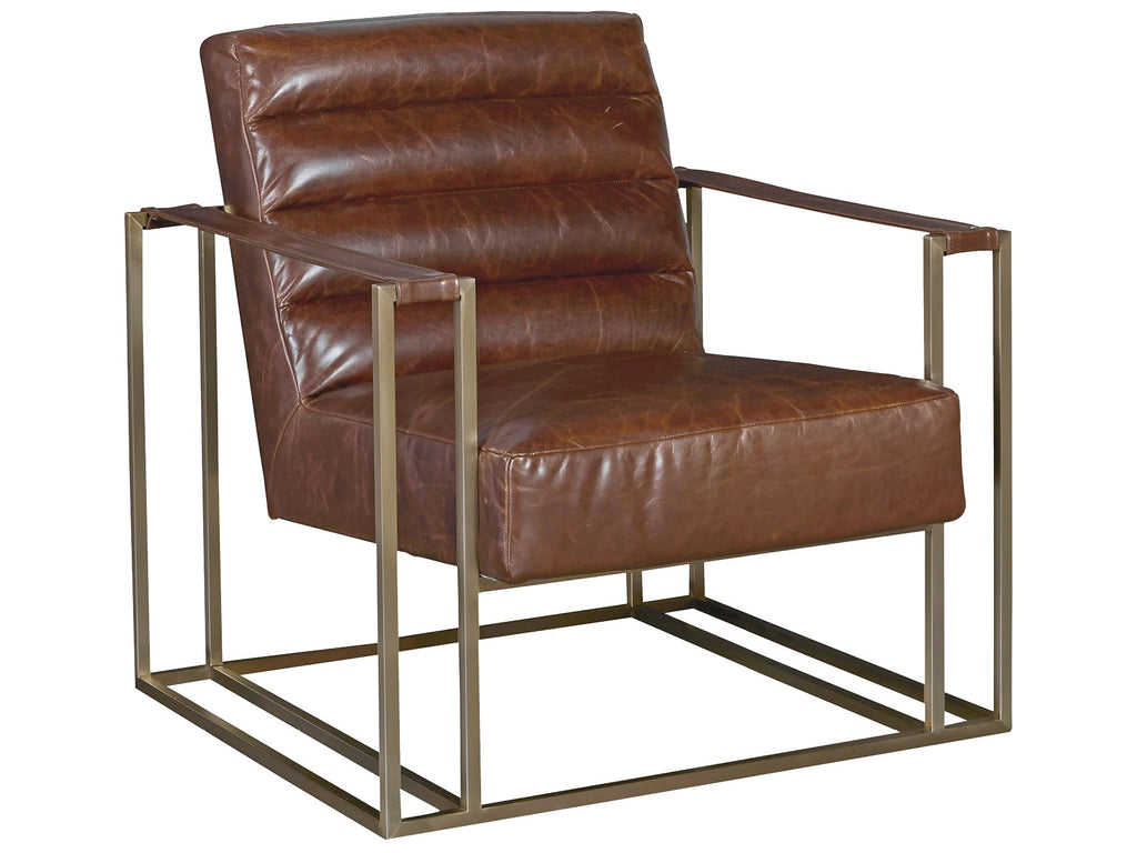 Jensen Accent Chair - Brown Leather