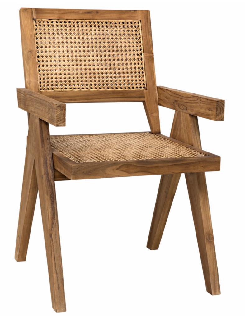 Jude Chair,Teak with Caning