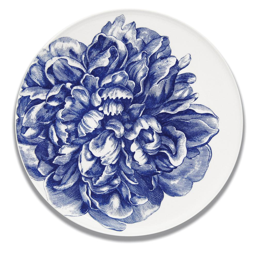 PEONY BLUE COUPE PLATTER