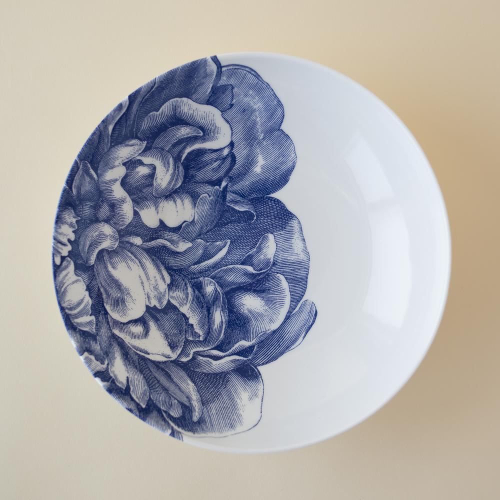 Peony Blue Low Profile Soup Bowl