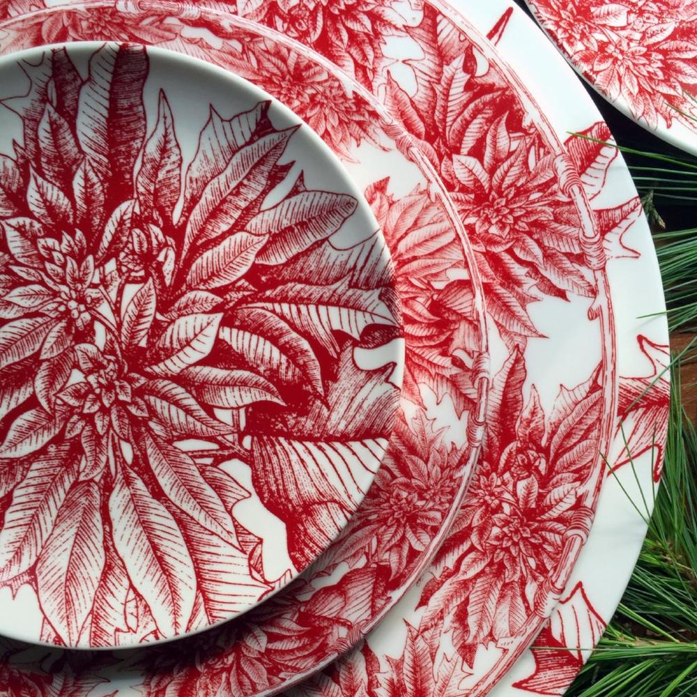 POINSETTA SALAD PLATE