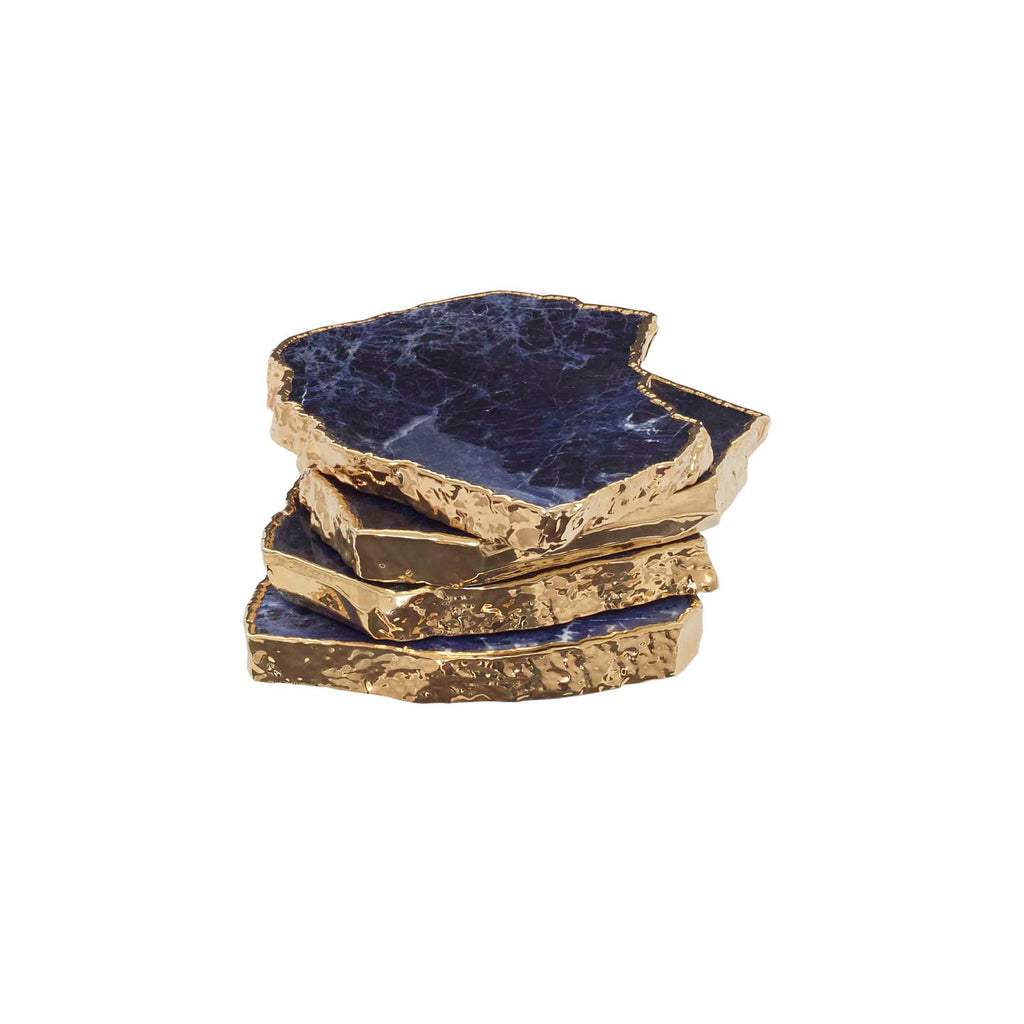 Chimayo Sodalite Coasters, Set Of 4