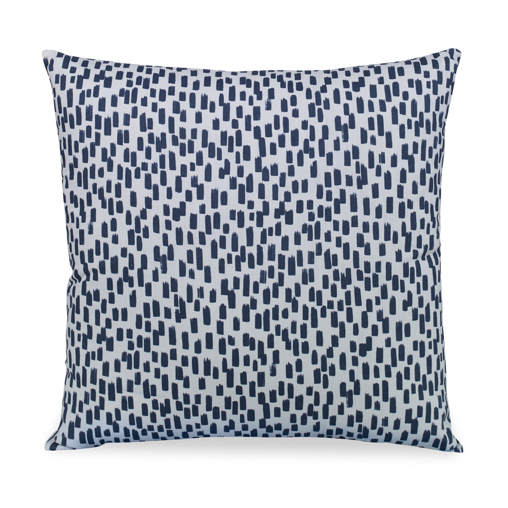 Inkstrokes Pillow White/Blue