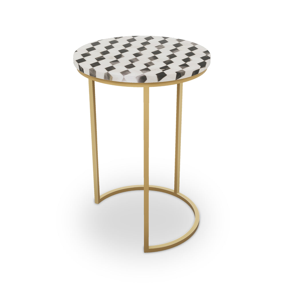Ludlow Table, Half Moon Brass
