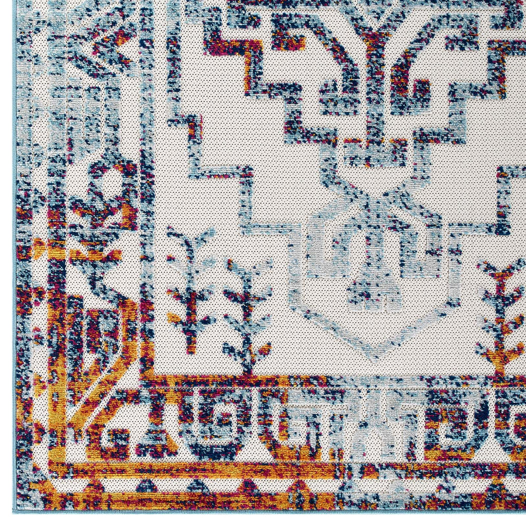 Reflect Nyssa Distressed Geometric Southwestern Aztec 8x10 Indoor/Outdoor Area Rug