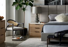 Modern Bacall Bed with Wall Panels