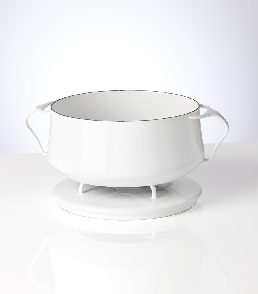 Kobenstyle White 2 Quart Casserole with Lid