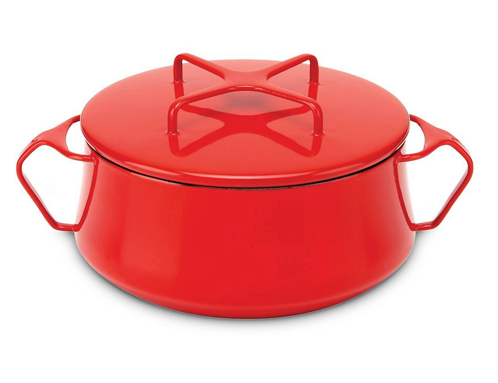 Kobenstyle Chili Red 2 Quart Casserole with Lid