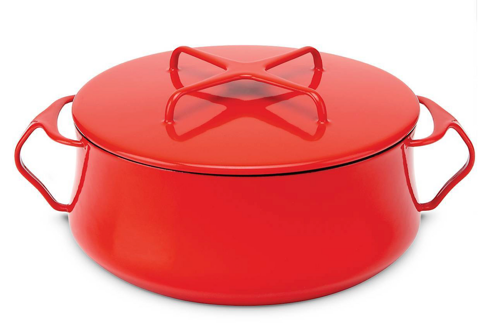 Kobenstyle Chili Red 4 Quart Casserole with Lid