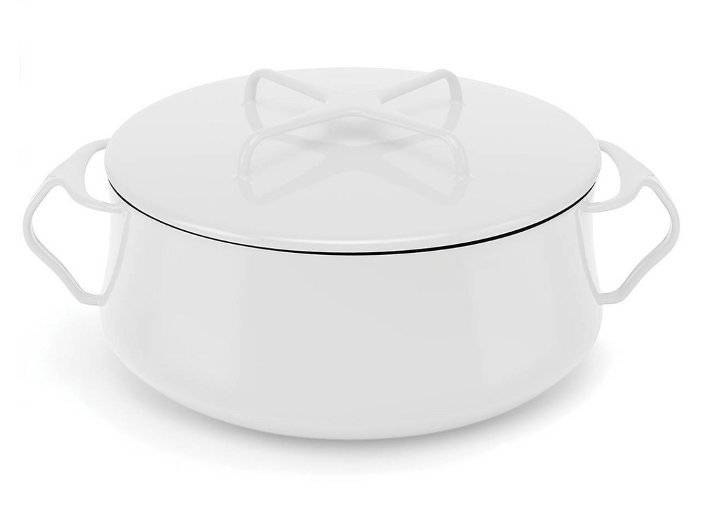 Kobenstyle White 4 Quart Casserole with Lid