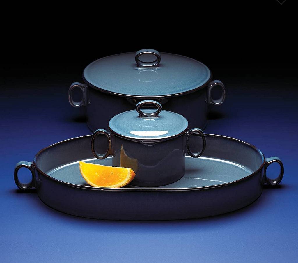 Generations II Nordic Blue Oval Roaster