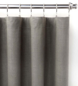Stone Washed Linen Shale Curtain Panel