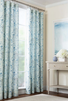 Ines Linen Blue Curtain Panel
